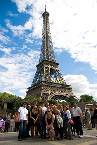 Study Abroad Group at the Eiffel Tower