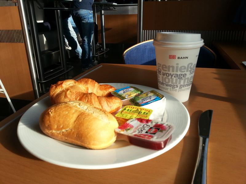 Breakfast in diner car