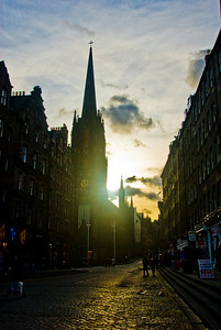 The streets of Edinburgh