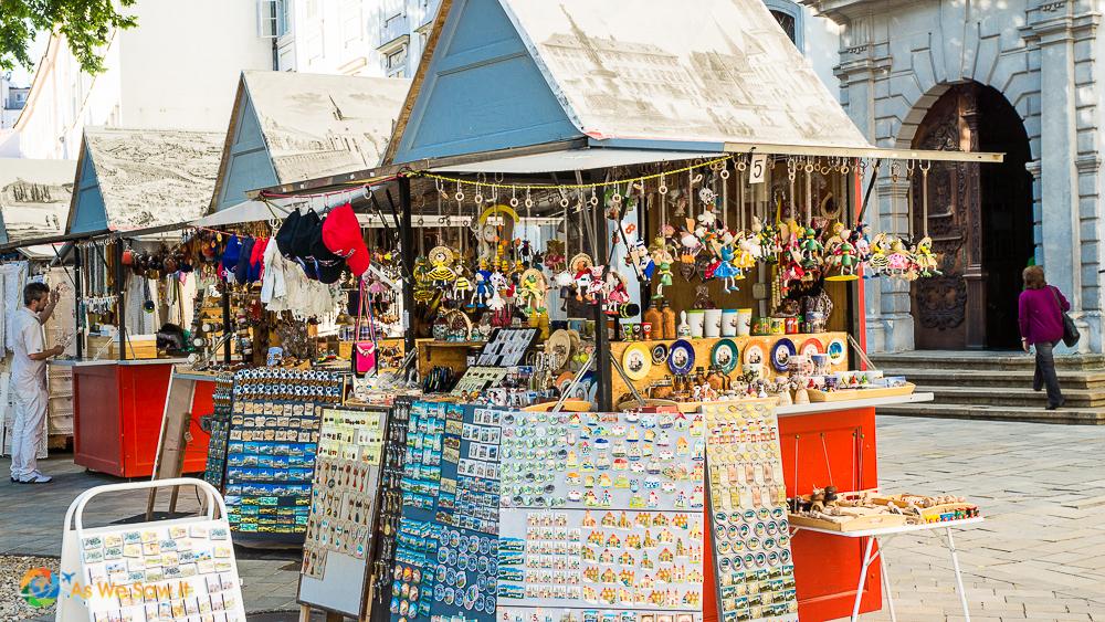 Market stalls in Bratislava