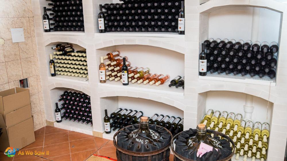 Wines on display at Kamil Kukumberg