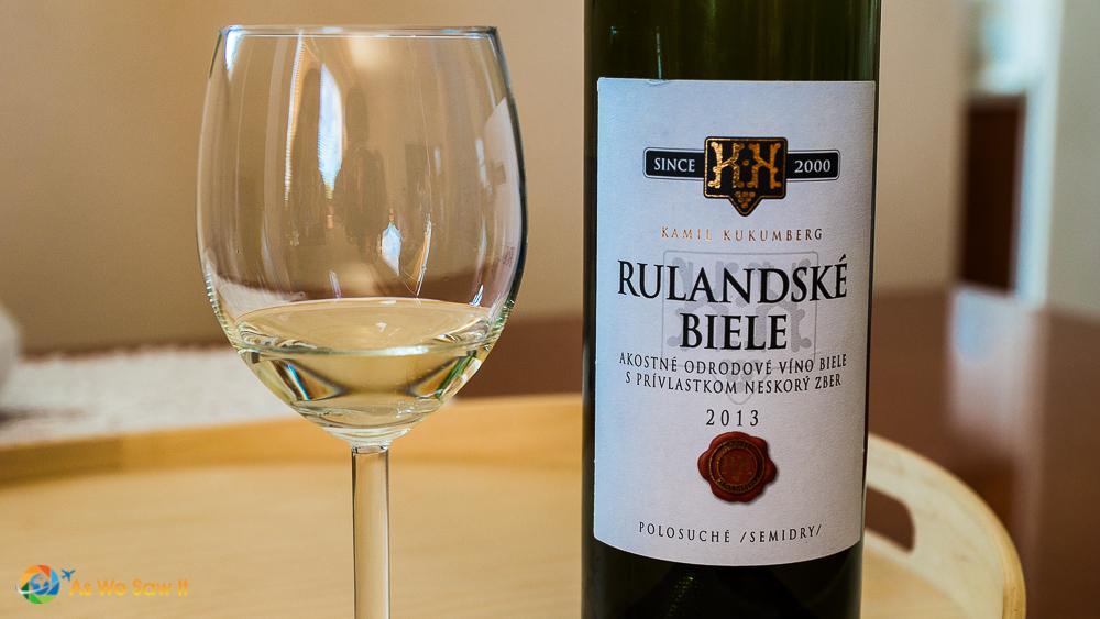 Rulandske Biele from Kamil Kukumberg winery