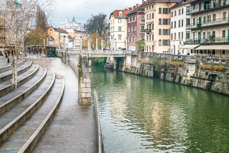 Cobbler bridge in Ljubljana