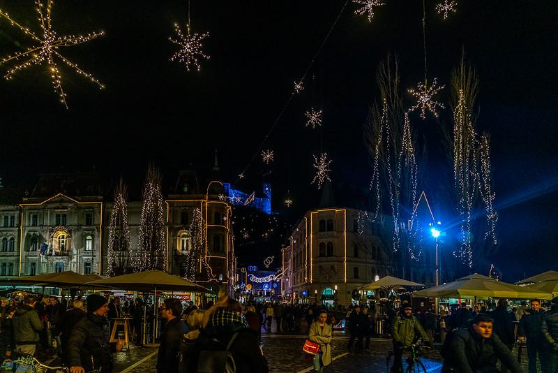 Christmas market in Ljubljana