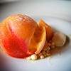 Caramelized Apricot:  blown sugar apricot with vanilla, caramelized apricot cream