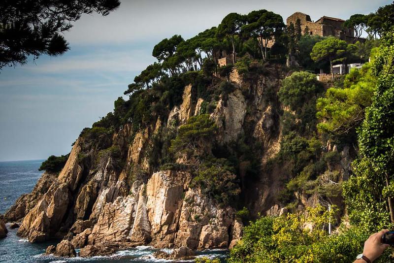 Dramatic cliffs in Blanes, Catalunya
