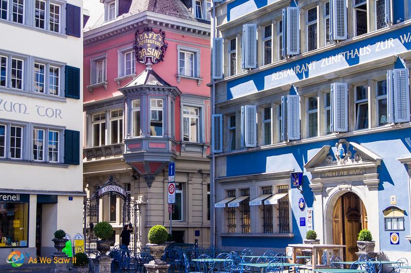 Details of buildings in Zurich Altstadt