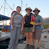 Betsy, me, and Warren leaving from the boat harbor in Kas for our day's hike.