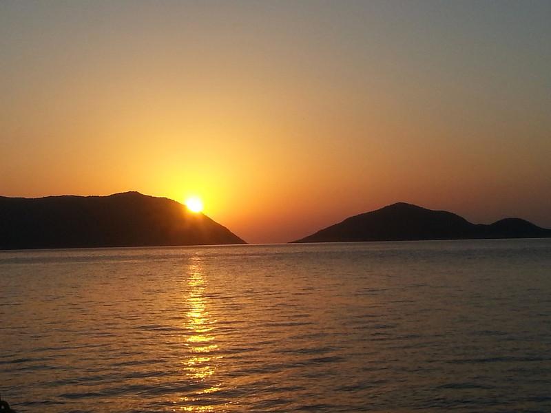 Sunrise on the boat
