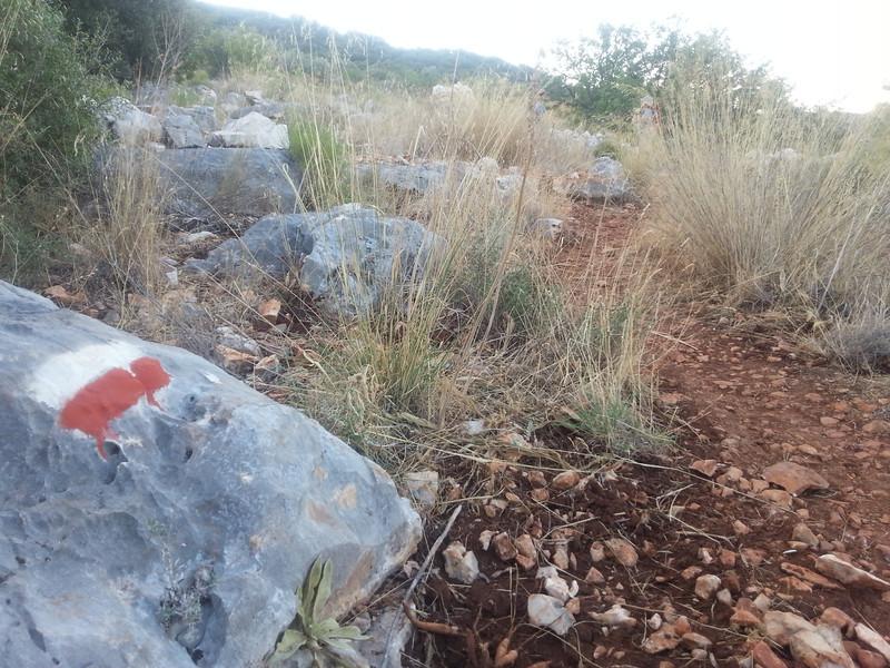 Lycian way trail marking