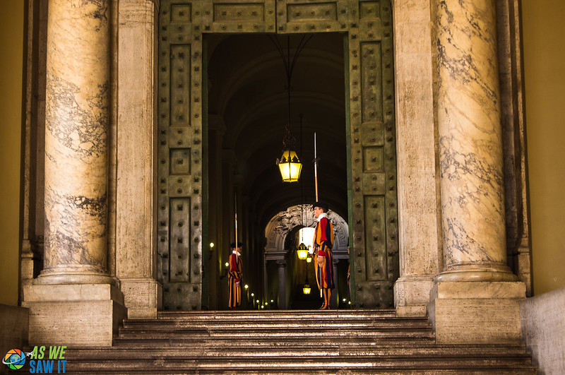 Swiss Guards at Vatican doorway