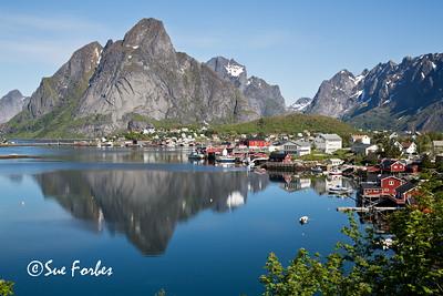 View of town of Reine, Lofoten Islands, Norway