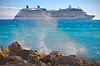 Cruise ship entering harbor in Venice, Italy, #0555