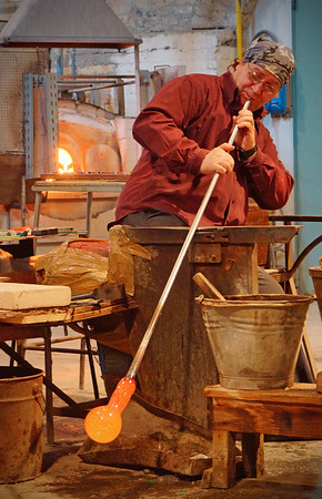 Glass blowing in Murano, Italy, #0576