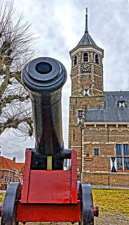 The Kruithuis in Willemstad, Holland, for gunpowder storage by Napoleon, and canon, #0674
