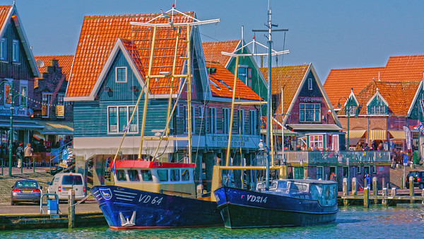Volendam, Holland river harbor, #0668