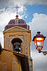 Church tower in Toscannia, Italy, #0553