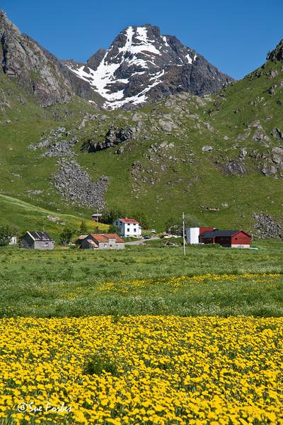 View from Haukland beach, Lofoten Islands, Norway