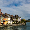 Old town on the rhein river Germany
