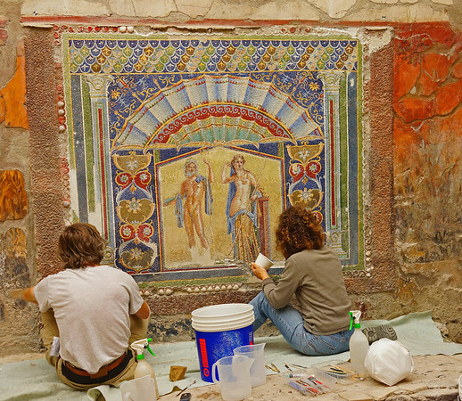 Ruins in Herculaneum, #0560