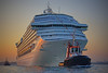 Cruise ship entering harbor in Venice, Italy, #0575
