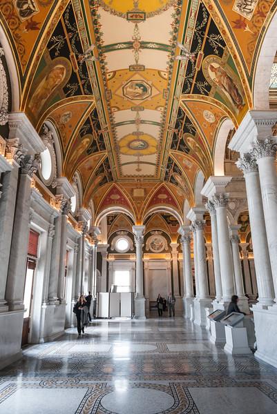 Second floor of the Library of Congress. Washington DC,  digital, Mar 2015.