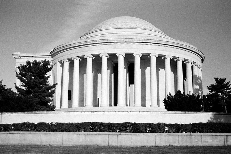 Jefferson Memorial, Washington DC. Winter 2013. Ilford Delta 400.