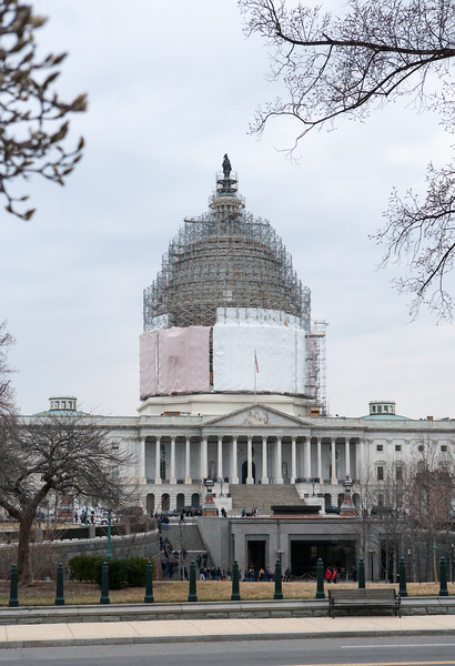 The Capitol dome getting a makeover. Washington DC,  digital, Mar 2015.