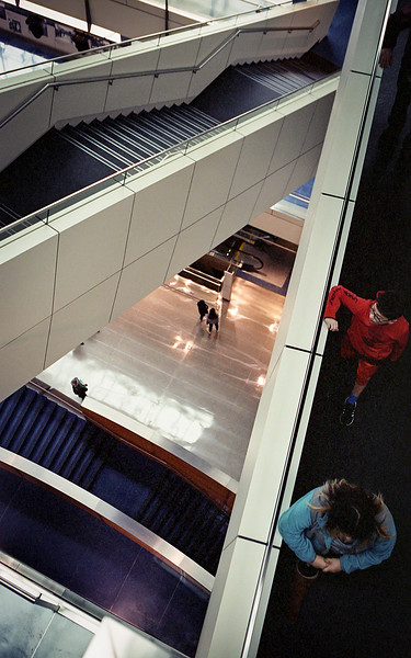 Touring the Newseum in downtown DC. Spring 2019. Portra.