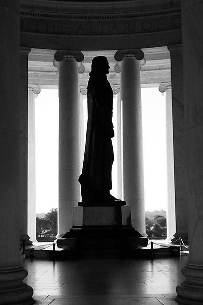 Jefferson Memorial, Washington DC. Winter 2013. Ilford Delta 400.
