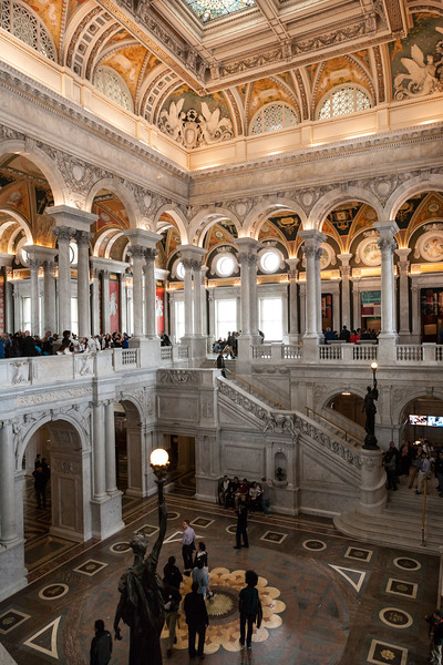 Great Hall of the Library of Congress. Washington DC,  digital, Mar 2015.