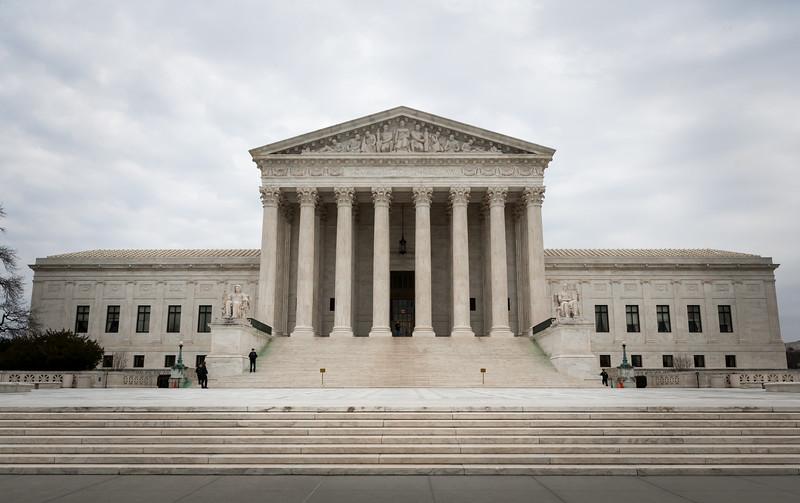 Full shot of the Supreme Court. Washington DC,  digital, Mar 2015.