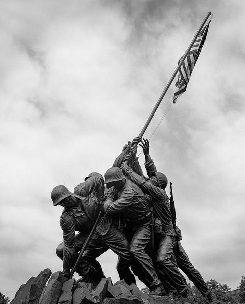 Iwo Jima Memorial in Washington DC. April 2019. TriX medium format.