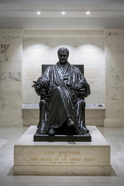 John Marshall statue inside the Supreme Court. Washington DC,  digital, Mar 2015.