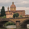 Arched bridge over Arno River