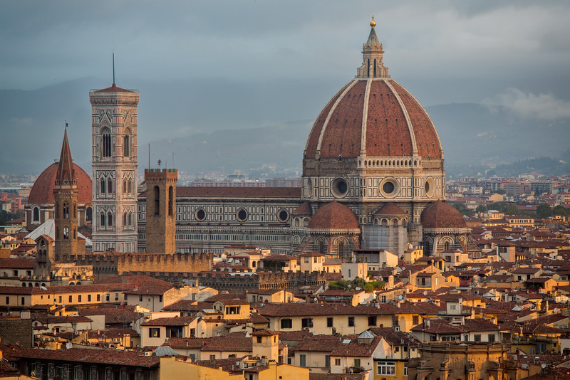 Morning light on the Duomo of Florence