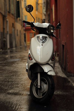Vespa in Old Town Nice