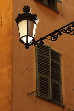 Old Town Nice streetlight