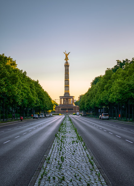 Victory Column after sunset