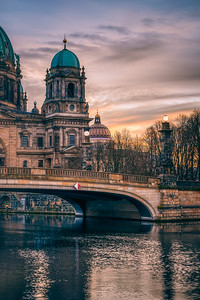 Museum Island at sunset