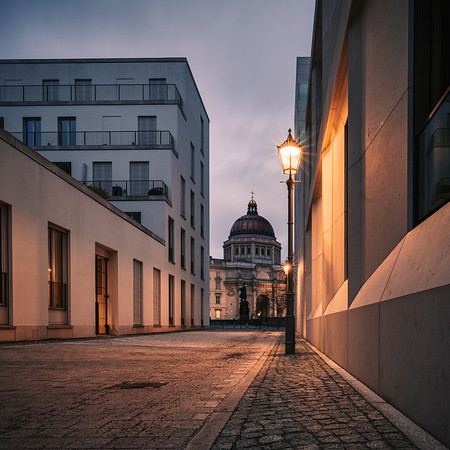 Prinzengasse after sunset