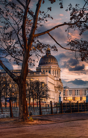 Berlin Palace after sunset