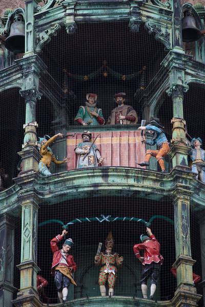 Rathaus-Glockenspiel in the Marienplatz in Munich