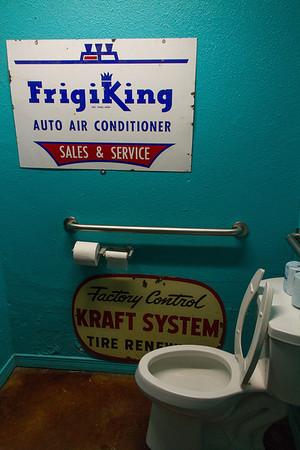Restroom in Sparky's restaurant, Hatch, NM.