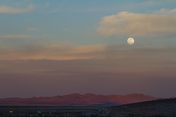 Moonrise, taken from Steins, NM.