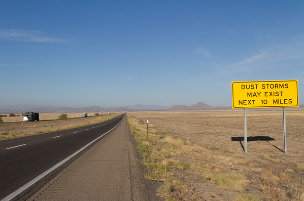 Interstate 10W, west of Lordsburg, NM.