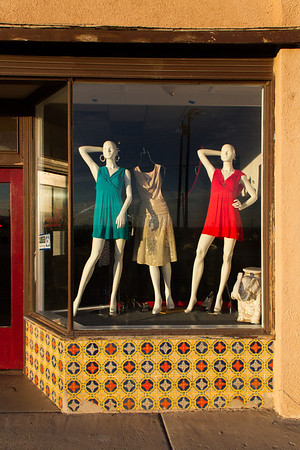 Storefront window, East Motel Drive, Lordsburg, NM.