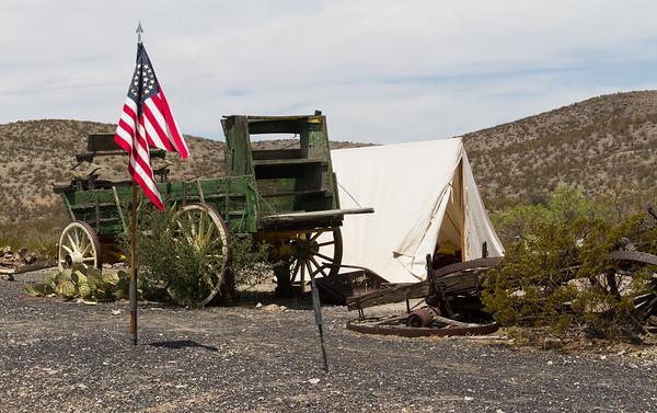 Army encampment.