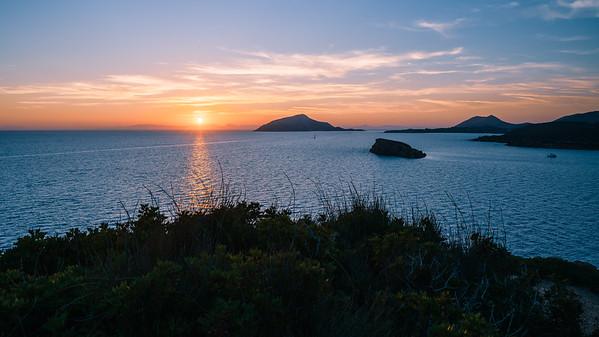 Sunset at Cape Sounio