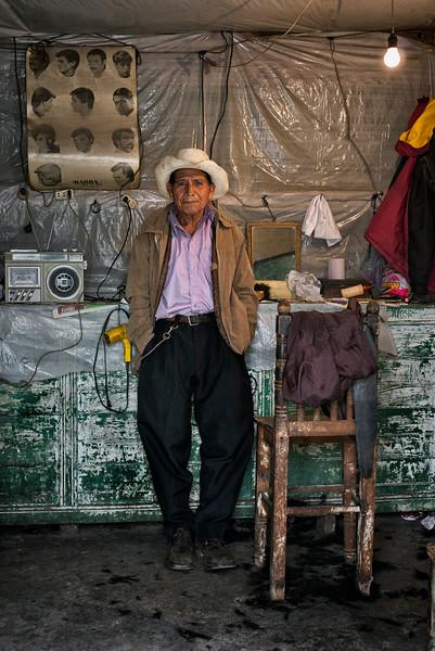 Barber.<br /> <br /> Chichicastenango, Guatemala, 2014.